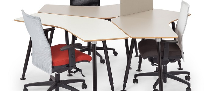 Folding office desks