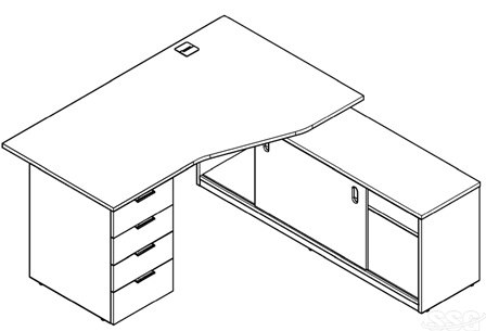 Office furniture desks layout