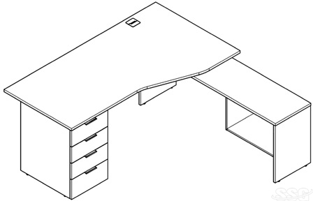Office work desks catalog layout