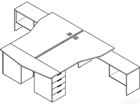 Office desks catalog drawing