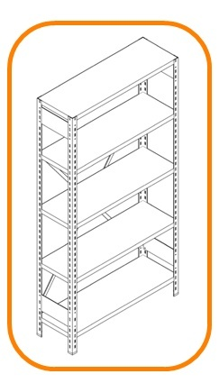 Metal archive shelving systems