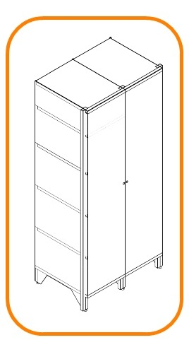Double metal storage cabinets
