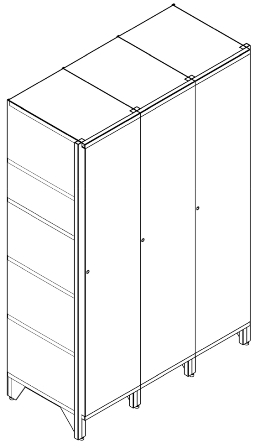 Metal document cabinets