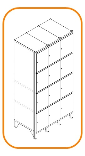 Metal storage cabinets SK