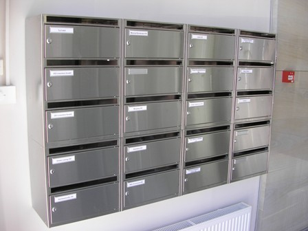 Sectional office mailboxes