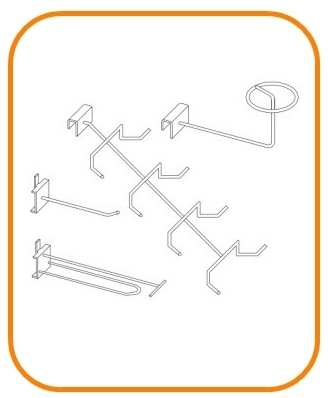 RETAIL STORE HOOKS AND FIXTURE